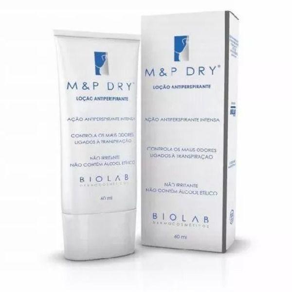 M&p Dry Antiperspirante Sem Álcool Etílico 60ml Biolab Validade 04/2022
