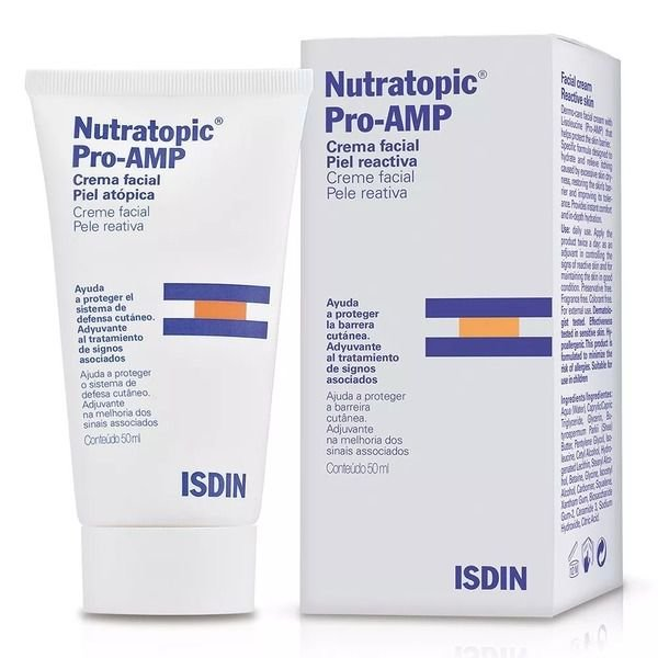 Isdin Nutratopic Pro-amp Creme Facial 50ml Pele Reativa