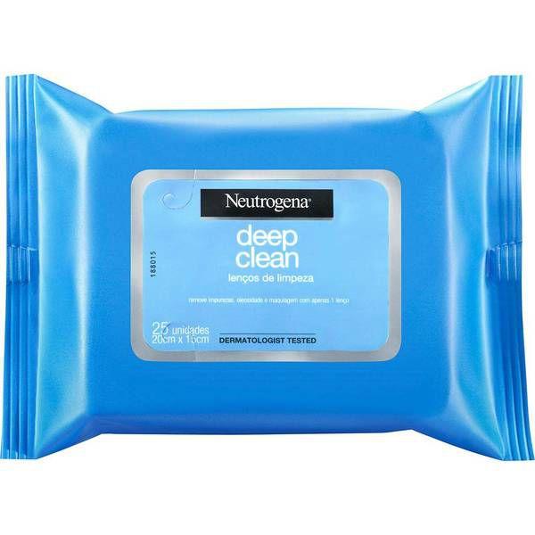 Lenço de Limpeza Facial e Demaquilante Neutrogena 25 Unidades