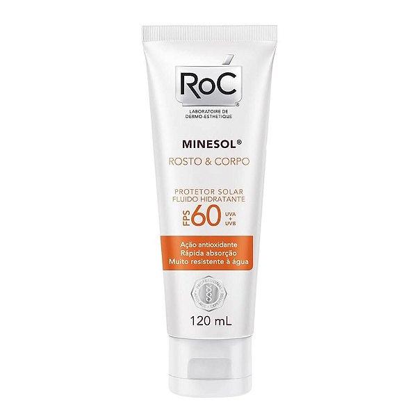 Protetor Solar Roc Minesol Fps 60 Rosto & Corpo 120ml