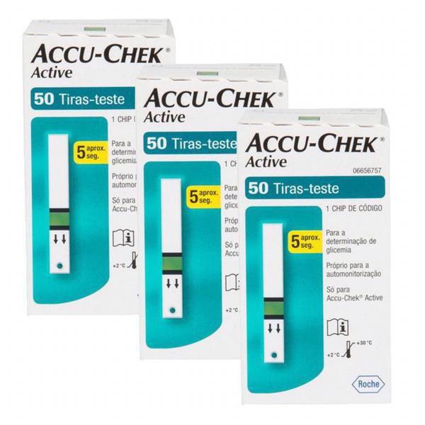 Accu-Chek Active com 50 Tiras Reagentes 3 Unidades Validade 06/2021