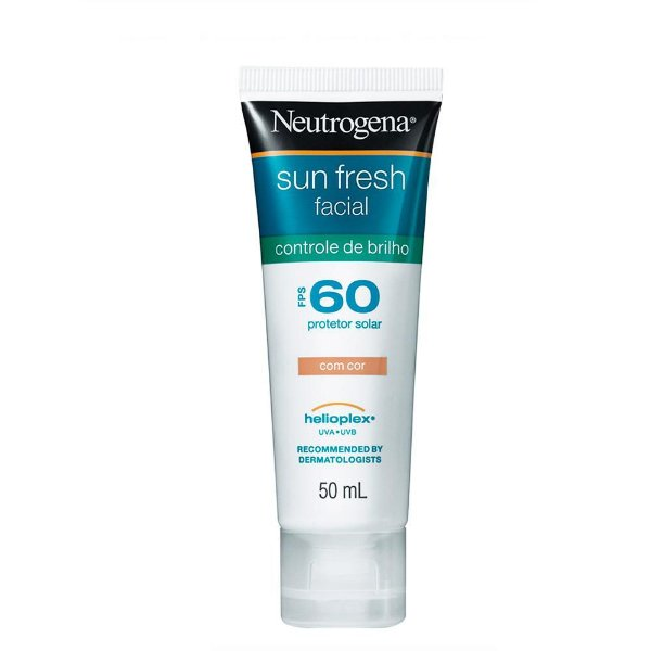 Neutrogena Sun Fresh Facial Fps 60 Gel Creme com Cor 50ml