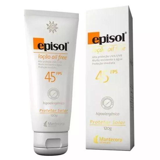 Protetor Solar Episol Fps 45 Locão Oil Free 120g Mantecorp