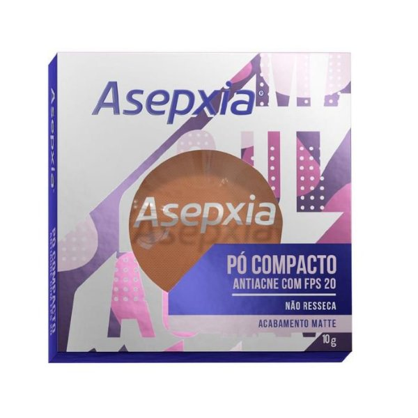 Asepxia Pó Compacto Antiacne Fps 20 Marrom 10g
