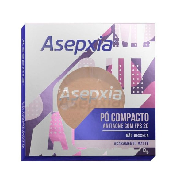 Asepxia Pó Compacto Antiacne Fps 20 Bege Claro 10g