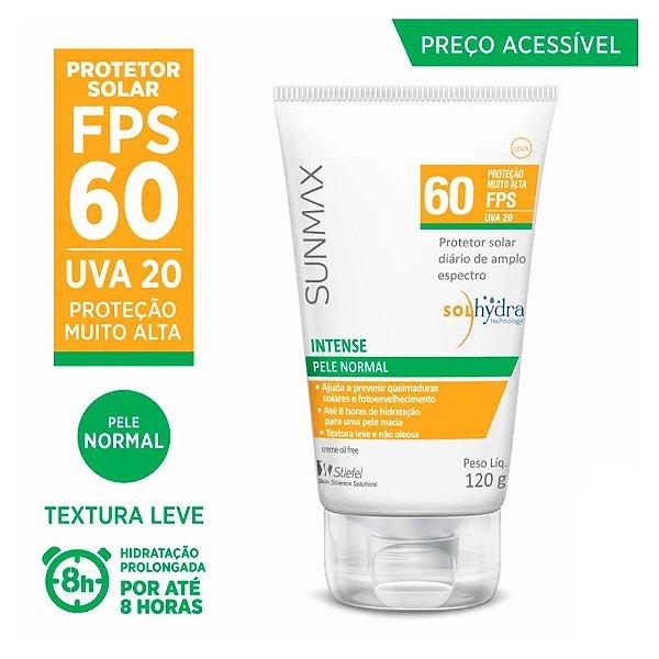 Protetor Solar Sunmax Intense Fps 60 120g Oil Free