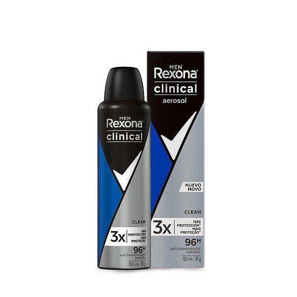 Desodorante Rexona Men Clinical Clean Aerosol 150ml