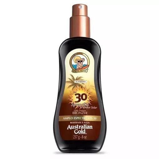 Australian Gold Protetor Solar Bronzeador Fps 30 Spray Gel 237ml