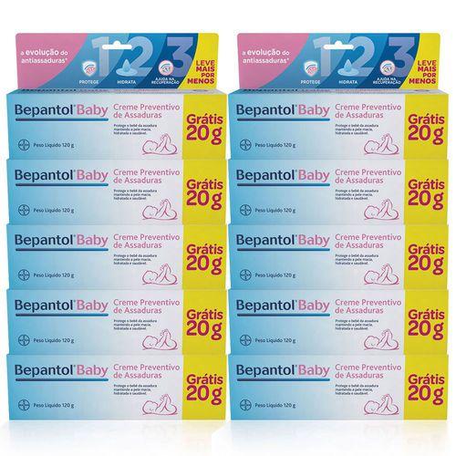 Bepantol Baby Creme Preventivo De Assadura 100g + 20g Kit 10 Unidades