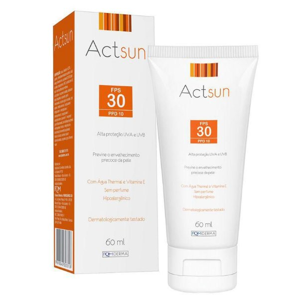 Actsun Protetor Solar Facial Fps 30 60ml