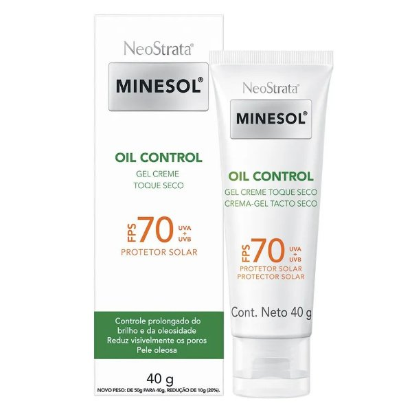 Neostrata Minesol Fps 70 Oil Control 40g Gel Creme