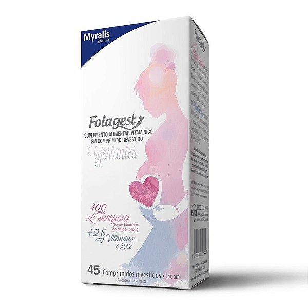 Folagest Suplemento Para Gestantes Com 45 Comprimidos