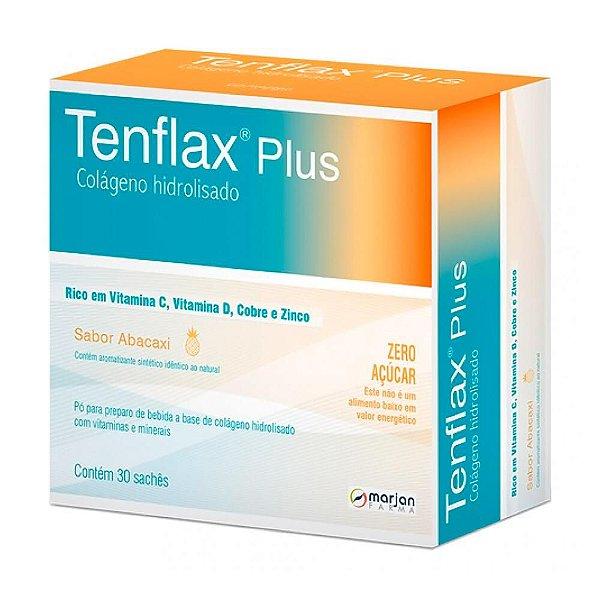 Tenflax Plus Colágeno Com 30 Sachês Sabor Abacaxi