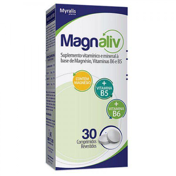 Magnaliv Suplemento Vitamínico Com 30 Comprimidos Revestidos