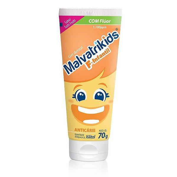 Malvatrikids Gel Dental Infantil Com Flúor Sabor Tutti Frutti 70g