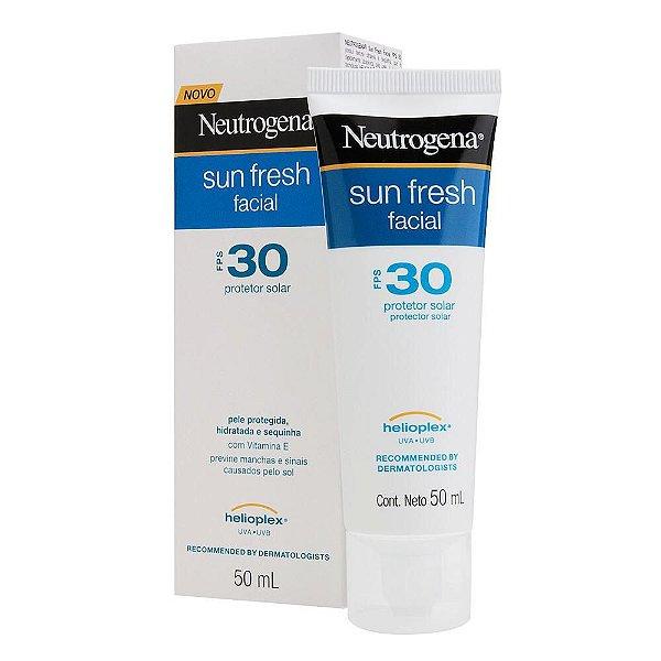 Neutrogena Sun Fresh Facial Fps 30 Protetor Solar 50ml