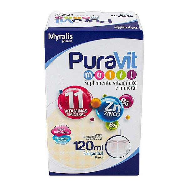 Puravit Multi Solução Suplemento Vitamínico 120ml