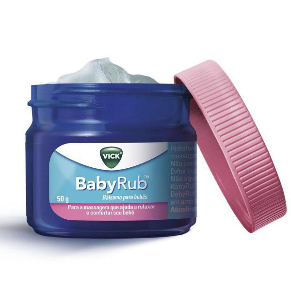 Vick BabyRub Bálsamo para Bebês 50g