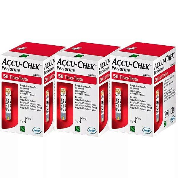 Accu-Chek Performa Com 50 Tiras Reagentes 3 Unidades Validade 11/2021