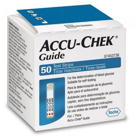 Accu-Chek Guide com 50 Tiras Reagentes