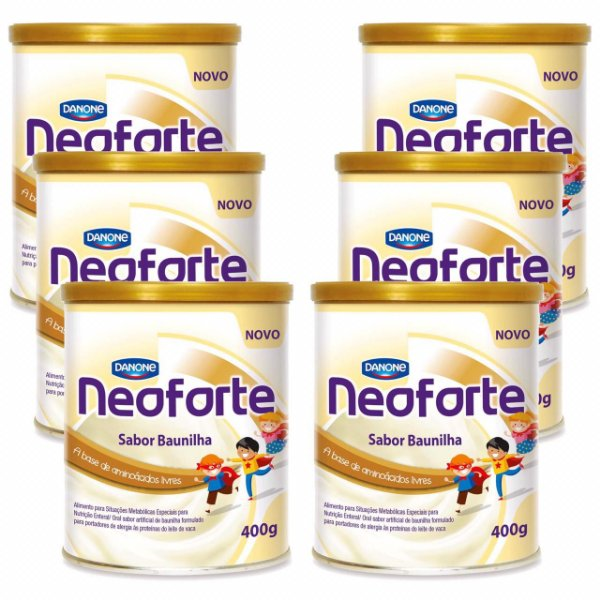 Neoforte Suplemento Infantil Sabor Baunilha 400g 6 Unidades