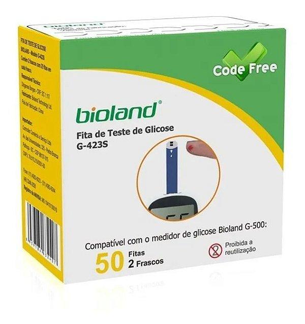 Fita para Glicosímetro Com 50 Tiras Bioland