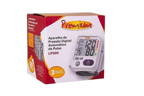 Aparelho Medidor de Pressão Digital de Pulso Premium LP200