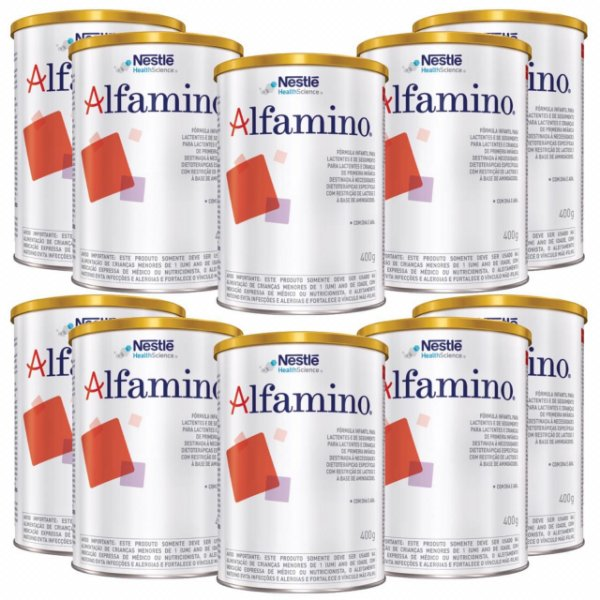 Alfamino Fórmula Infantil 400g 10 Unidades