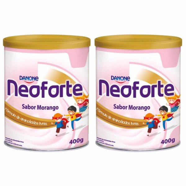 Neoforte Suplemento Infantil Sabor Morango 400g 2 Unidades