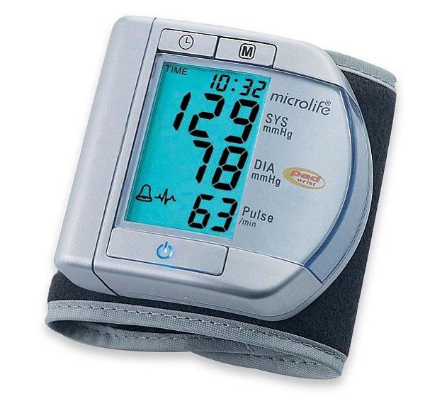 Monitor de Pressão Arterial Automático de Pulso Microlife Prata BPW100