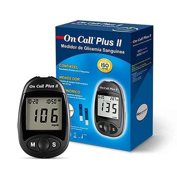 On Call Plus II Kit Monitor de Glicemia com 1 Monitor + 10 Lancetas + 1 Lancetador