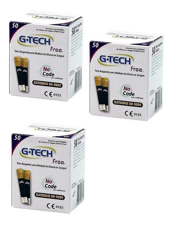 Tiras Reagentes G-tech Free com 150 unidades