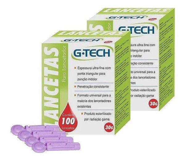 Lancetas G-tech Universal Caixas 200 Unidades