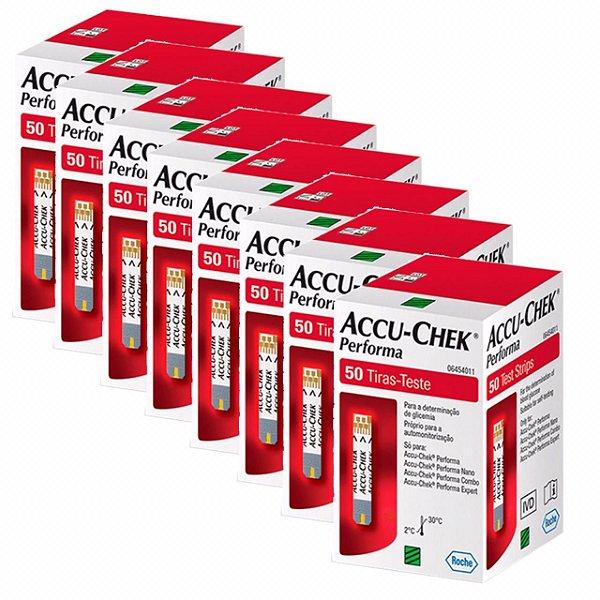 Accu-Chek Performa Com 50 Tiras Reagentes 8 Unidades Validade 08/2021