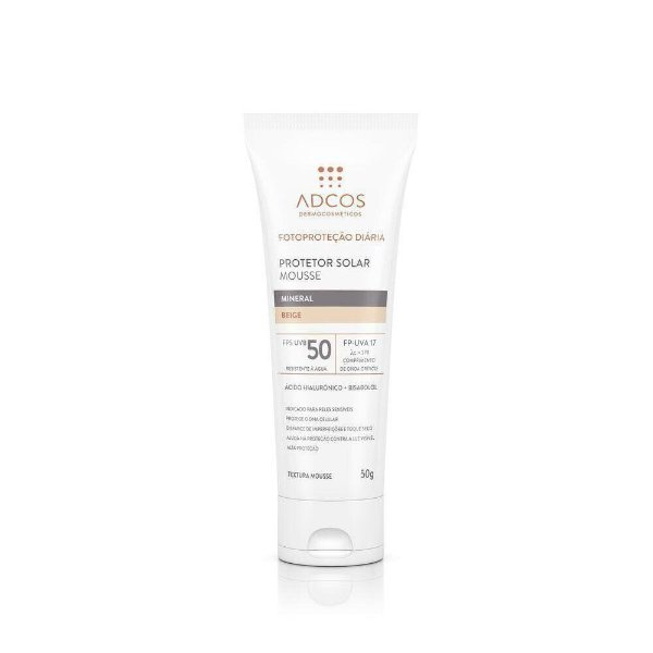 Protetor Solar Mousse Adcos Mineral Nude Fps 50