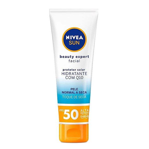 Protetor Solar Nivea Sun Beauty Expert Facial Pele Normal a Seca Fps 50 Com 50g