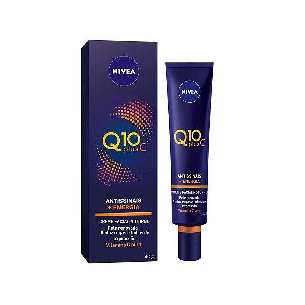 Nivea Q10 Plus C Antissinais + Energia Creme Facial Noturno 40g