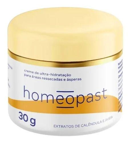 Homeopast 30g Hidratante em Creme para Peles Ressecadas e Ásperas