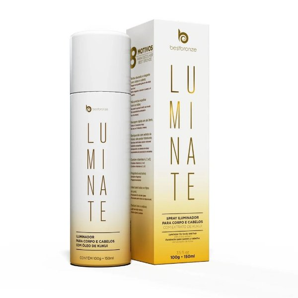 Luminate Spray Best Bronze Iluminador Para Corpo e Cabelos 150ml