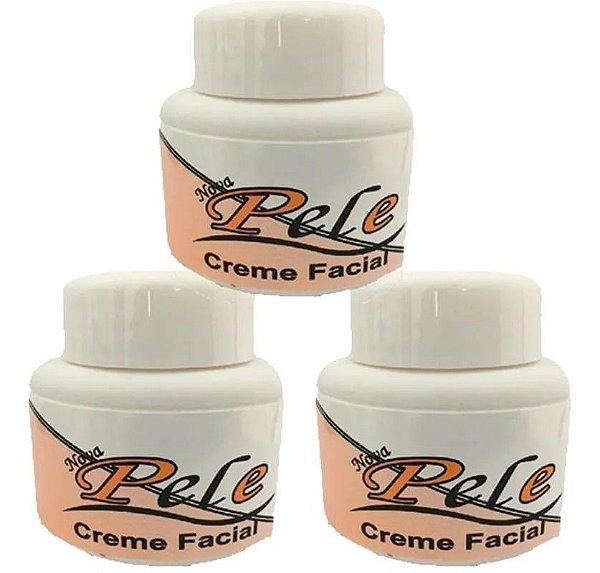 Creme Facial Clareador Melasma Nova Pele 25g 3 Unidades