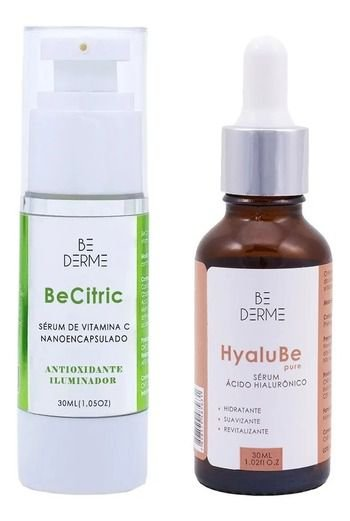 Be Citric Sérum De Vitamina C Nano 30ml + Hyalu Be Sérum De Ácido Hialuronico 30ml