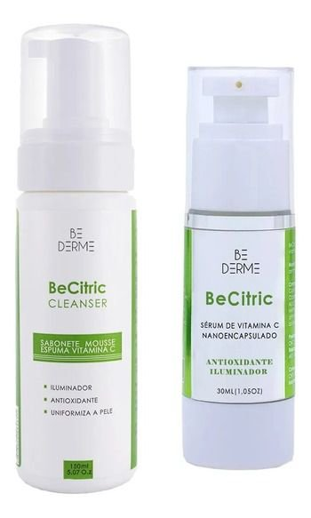 Be Citric Sabonete Clareador Mousse De Vitamina C 150ml + Be Citric Sérum De Vitamina C Nano 30ml