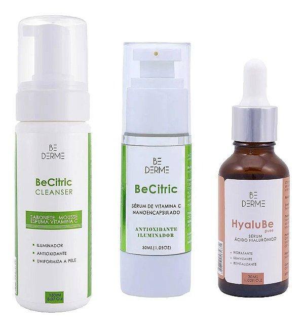 Sabonete Vitamina C 150ml + Be Citric Sérum 30ml + Ácido Hialurônico 30ml