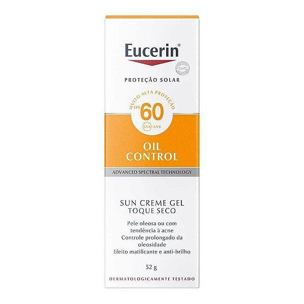 Protetor Solar Eucerin Sun Gel Creme Oil Control Fps60 52g