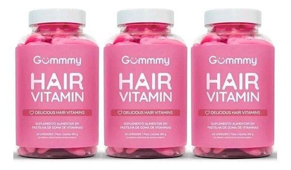 Gummmy Hair Vitamin Original com 60 Gomas 3 Unidades