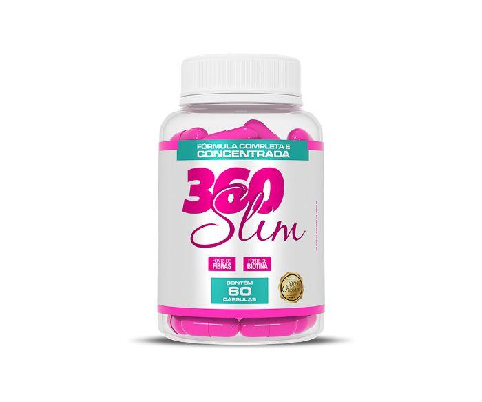 360 Slim Emagrecedor Redutor De Medidas Com 60 Cápsulas