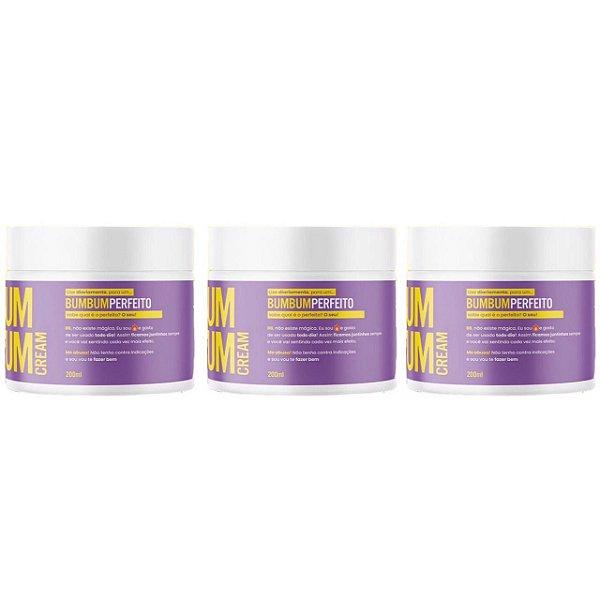 Bumbum Cream Creme Para Celulite E Estria 200ml 3 Unidades