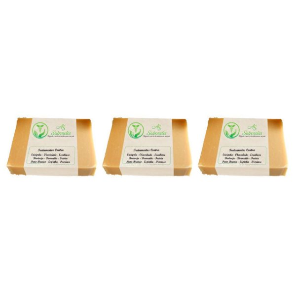 As Sabonete Medicinal Contra Escabiose e Psoríase 12g  3 Unidades
