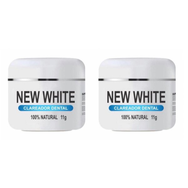New White Clareador Dental 11g 2 Unidades