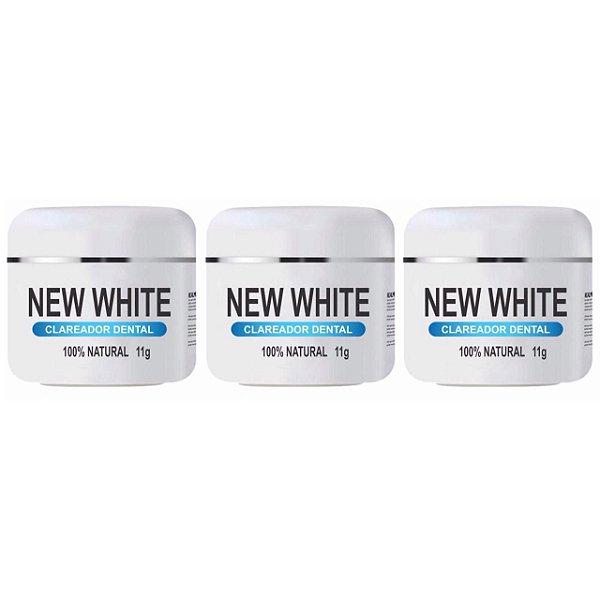 New White Clareador Dental 11g 3 Unidades